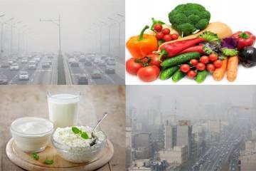 برای کاهش آثار آلودگی هوا، چه بخوریم؟